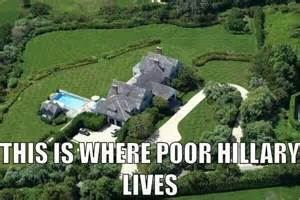 clinton s house hillary making 100 million is not being truly well off
