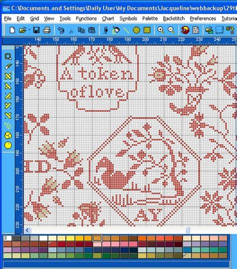 chart infinity needleprint infinity charts a view of your beatrix potter