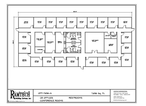 business office floor plans ramtech relocatable and permanent modular building floor plans
