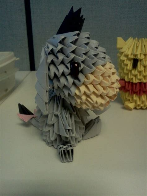 3d origami eeyore tutorial 3445 best images about eeyore my little gloomy gus on