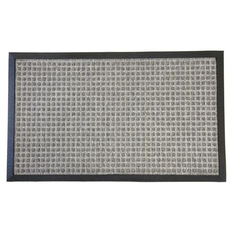 Gray Doormat by Rubber Cal Nottingham Gray 36 In X 60 In Rubber Backed