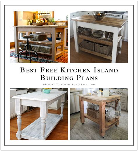 building kitchen island best free kitchen island building plans build basic