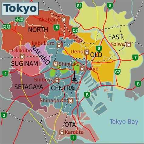 maps tokyo map of tokyo japan