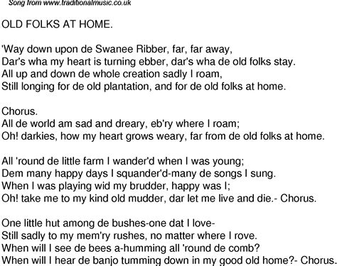 time song lyrics for 39 folks at home