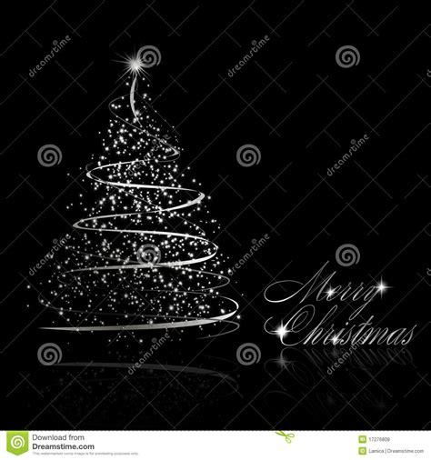 193 rbol de navidad de plata abstracto en fondo negro