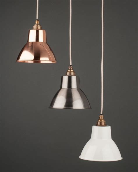 Industrial Light Pendant Brushed Steel Industrial Pendant Ceiling Light Moccas