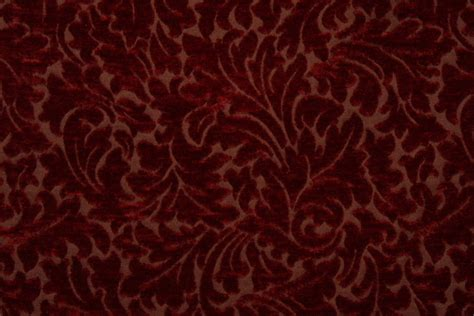 patterned velvet upholstery fabric m8843 chenille patterned upholstery fabric in pomegranate