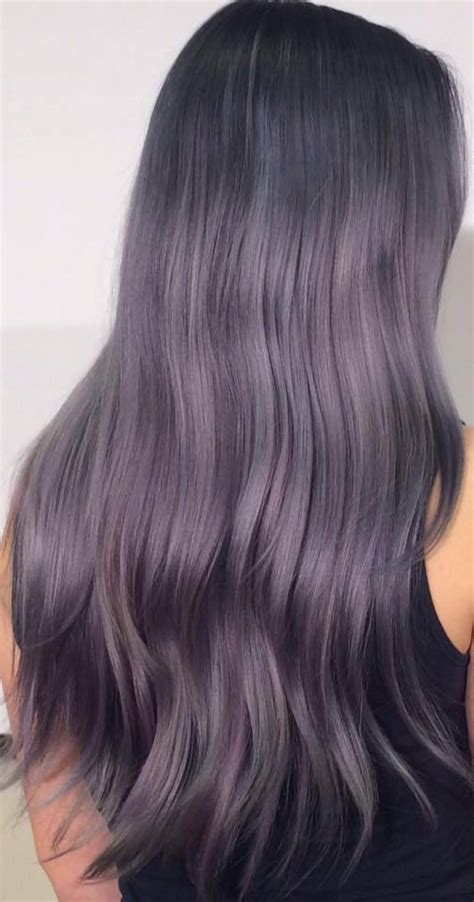 gray purple color silver gray hair styles hairstylegalleries com