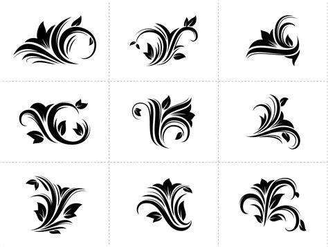 design elements flower shop floral decorative design elements