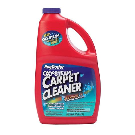 carpet cleaning solution for rug doctor rug doctor 48 oz oxy steam cleaner 04029 the home depot