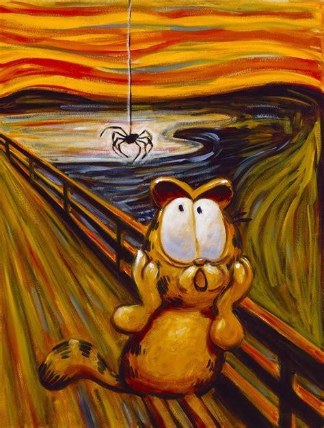 garfield painting that screams edvard munch artwings