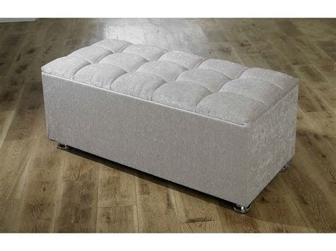 blanket boxes ottomans new ottoman storage blanket box in chenille