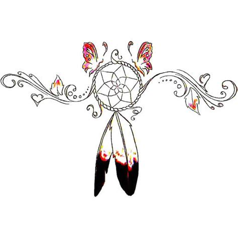indian dreamcatcher tattoo design
