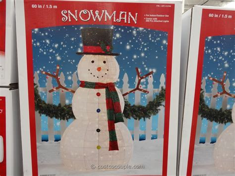 Lighted Outdoor Snowman Inch Lighted Snowman Costco Dma Homes 37214