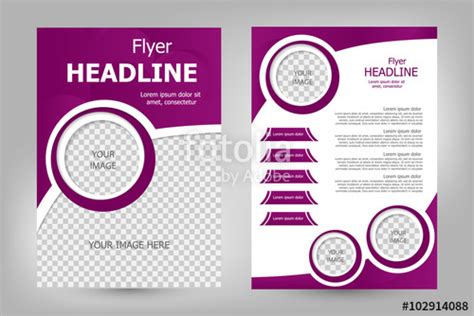 Quot Vector Flyer Template Design Quot Stock Image And Royalty Free Vector Files On Fotolia Com Pic Blank Flyer Templates