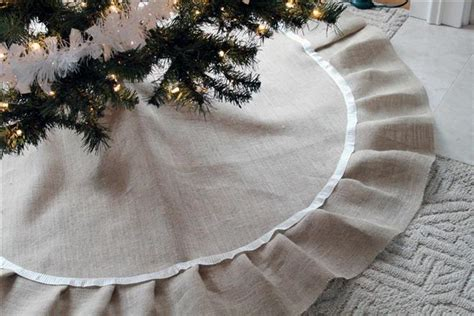keep christmas tree fashionable with diy burlap tree skirt
