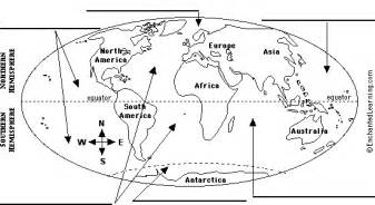 label oceans map printout enchantedlearning com
