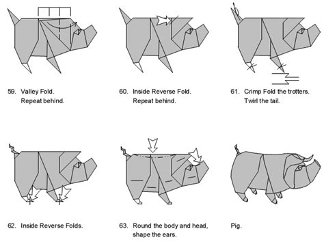 Origami Pig Diagram - origami pig diagram pig diagram and origami pig