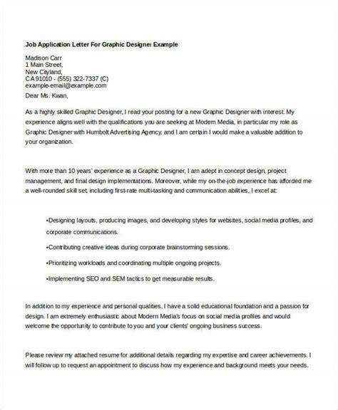 job application letters graphic designer