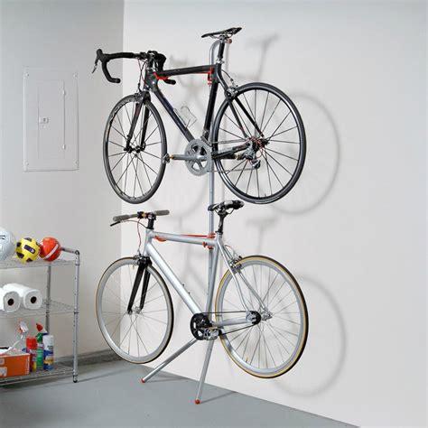 indoor bicycle storage bike garage storage rack stand 2 bicycle wall gravity