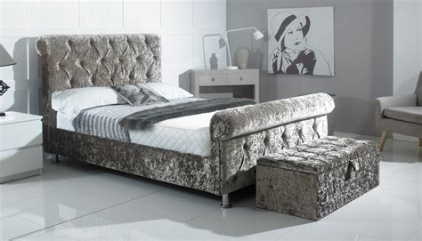 crushed velvet bed divan beds carl allen