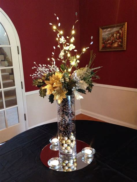 Vase For Lighted Branches by Themed Centerpiece Used To Decorate Entrance At