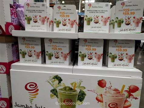 Gift Cards Sold At Costco - jamba juice gift card