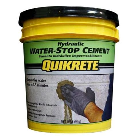 Quikrete 20 Lb Hydraulic Water Stop Cement 112620 The Hydraulic Cement Basement
