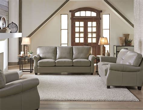 carlyle adobe leather living room set from lazzaro wh