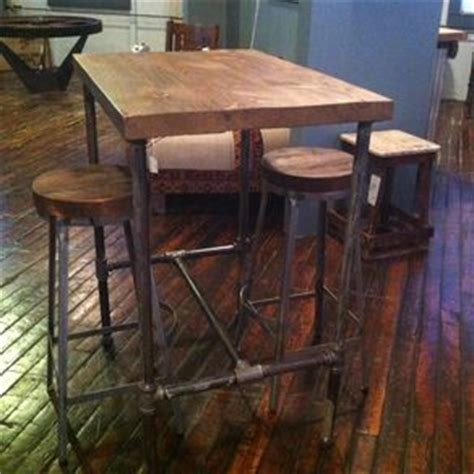 how high is a bar top hand made reclaimed wood and black iron pipe table by