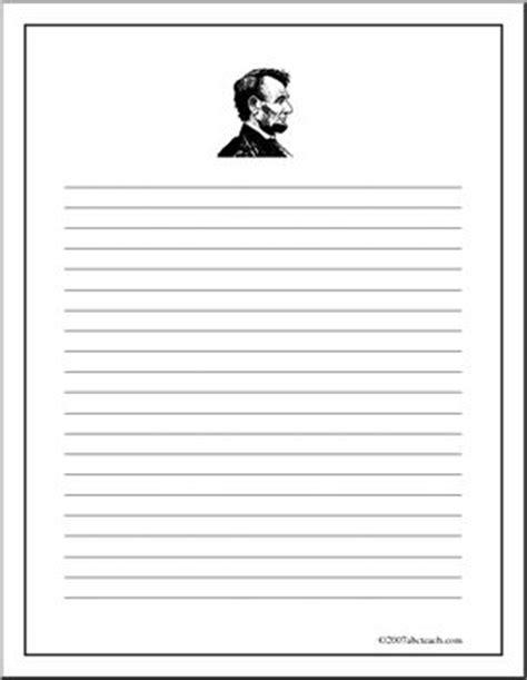 abraham lincoln printable writing paper writing paper abraham lincoln upper elem abcteach