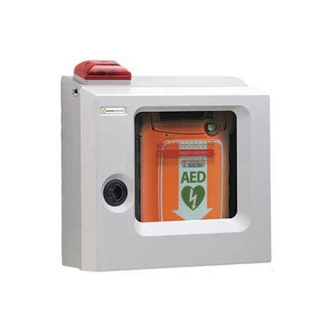 cardiac science aed cabinet cardiac science surface mount cabinet with alarm strobe