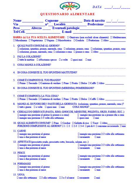 questionario alimentare il questionario alimentare pdf