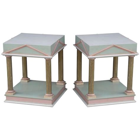 post modern furniture pair of neoclassical inspired post modern tables for sale at 1stdibs