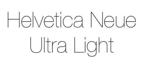 helvetica neue ultra light my style