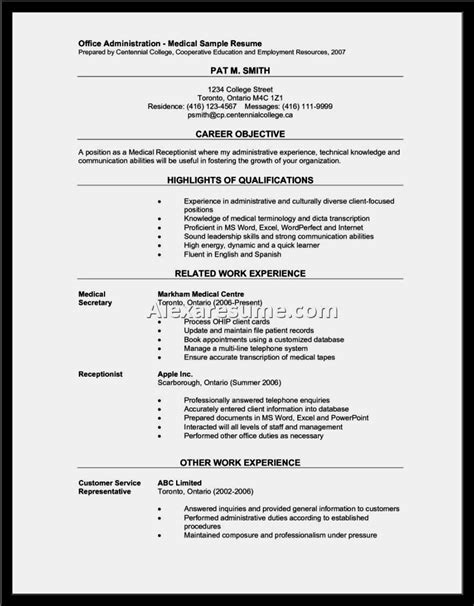 career objective resume examples elegant medical receptionist resume