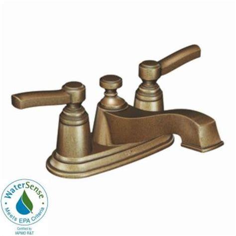 antique bronze kitchen faucet moen rothbury 4 in centerset 2 handle low arc bathroom