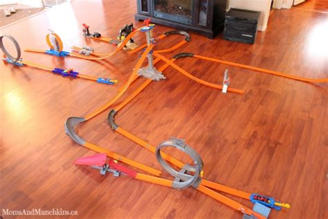 Coffee Table With Wheels Wheels Track Builder Challenge Moms Amp Munchkins