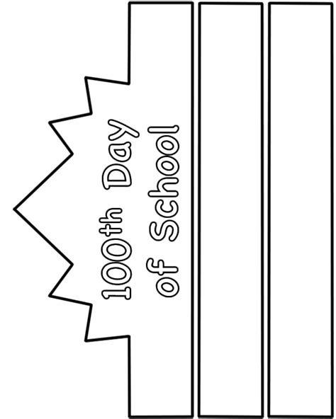 100th day hat template 100th day worksheets 100th day of school hat paper