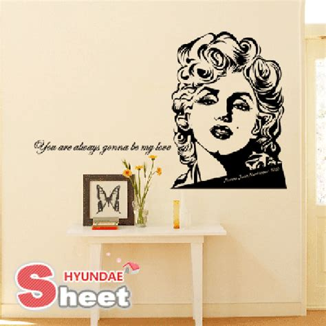 marilyn stickers for walls removable wall sticker wallpaper decal marilyn ebay
