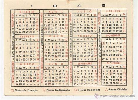 Calendario De 1948 Calendario No Fournier A 241 O 1948 Crema Anubi Comprar
