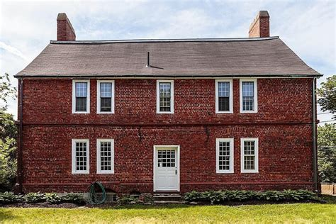 photo of home on the market possibly the oldest brick house in america