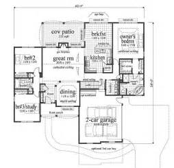 2000 Square Foot Floor Plans by 2000 Square Feet 3 Bedrooms 2 Batrooms 2 Parking Space