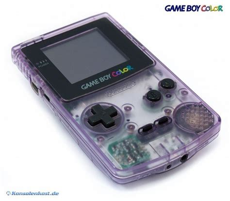 boy color gameboy color konsole clear atomic purple konsolenkost