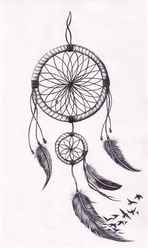 design dream birds dreamcatcher tat by mmpninja on deviantart