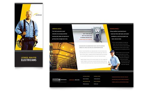 electrician brochure template word publisher