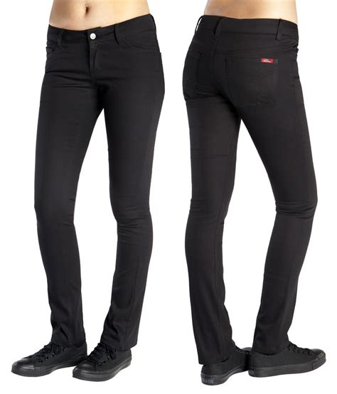 juniors black uniform pants with flap back pocket dickies junior s classic five pocket skinny pant