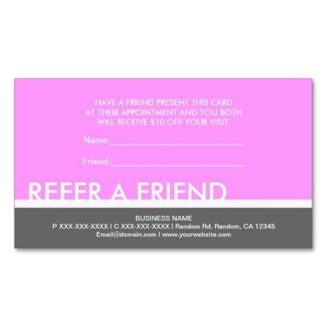 Salon Referr A Friend Card Templates by 74 Best Customer Retention Ideas Images On