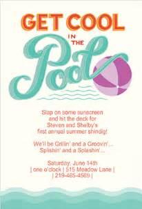 pool invitations templates free cimvitation