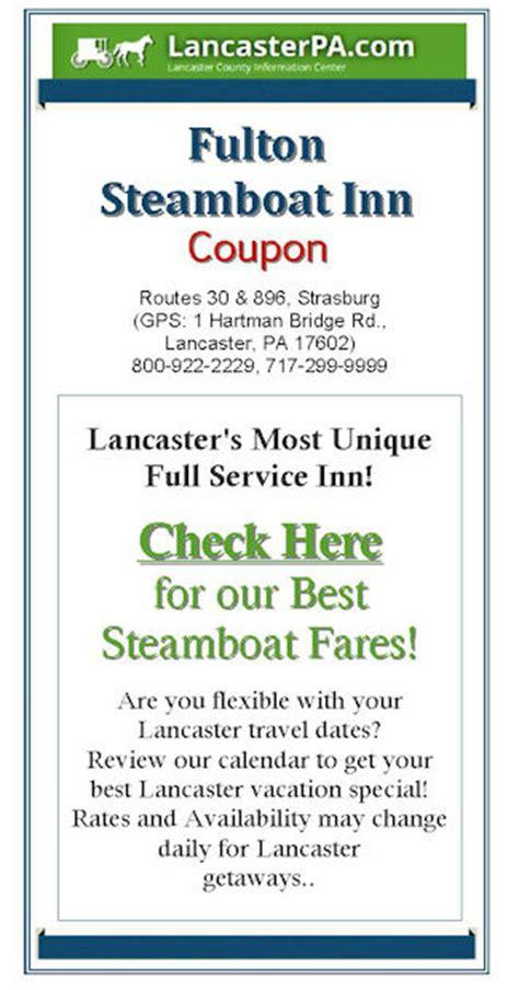 inn coupons fulton steamboat inn coupon lancaster pa
